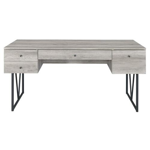 Industrial Grey Driftwood Writing Desk