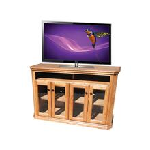 "A-TF300 Traditional Alder 56"" Clipped Corner TV Console"