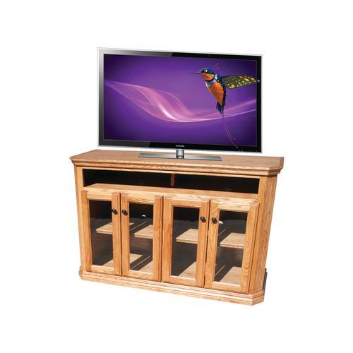 "O-TF300 Traditional Oak 56"" Clipped Corner TV Console"