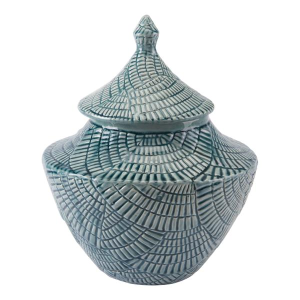 See Details - Small Escalera Covered Jar Mint