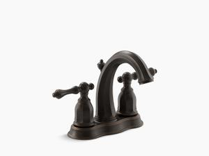 Oil-rubbed Bronze Centerset Bathroom Sink Faucet Product Image