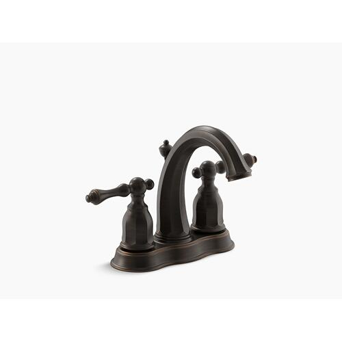 Oil-rubbed Bronze Centerset Bathroom Sink Faucet