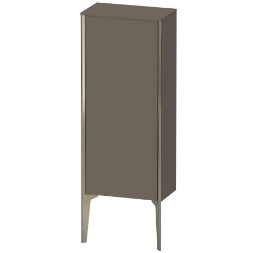 Duravit - Semi-tall Cabinet Floorstanding, Flannel Gray Satin Matte (lacquer)