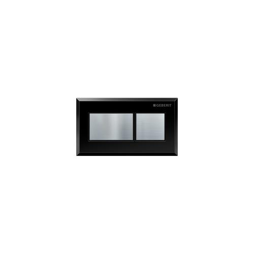Rectangular Remote flush buttons for Sigma and Omega in-wall toilet systems Plastic - Black with brushed chrome buttons Material - Finish