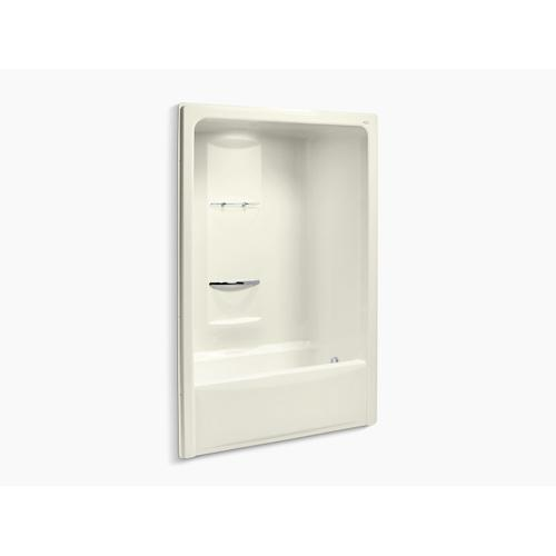 """Biscuit 60"""" X 35"""" Bath and Shower Stall With Right Hand Drain, Requires Grab Bar"""