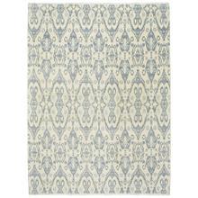 Siam-Ikat Ivory Blue - Rectangle - 10' x 14'