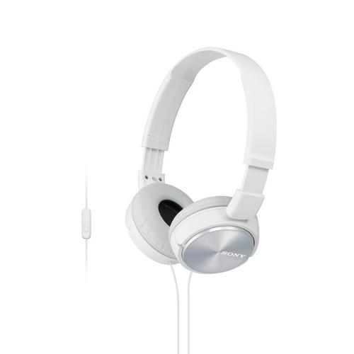 Gallery - Wired On-ear Folding Headphones with Microphone - White