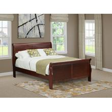 West Furniture Louis Philippe Queen Size bed in Phillip Walnut Finish