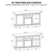 Howard Miller Fireplace Custom TV Console FP63E Product Image