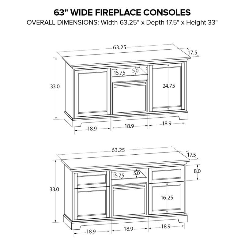 Howard Miller Fireplace Custom TV Console FP63E