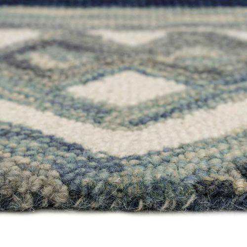 "Capel Rugs - Avanti-Kelim Alpine Blue - Rectangle - 3'6"" x 5'6"""
