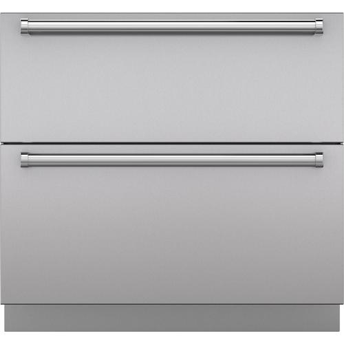 """Sub-Zero - Stainless Steel 36"""" Drawer Panels with Pro Handles"""