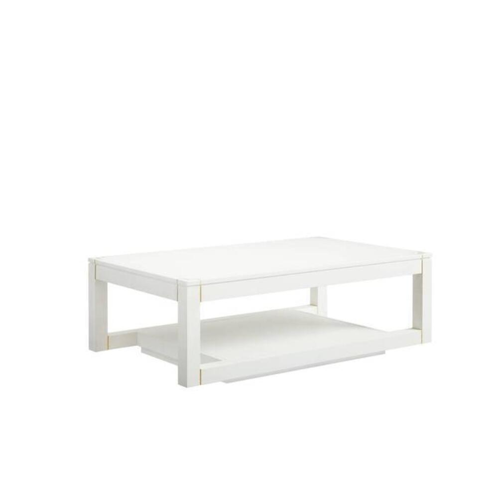 Panavista Floating Parsons Rectangular Cocktail Table - Alabaster