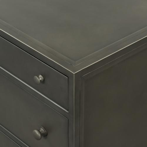 Gunmetal Finish Belmont Large Storage Nightstand