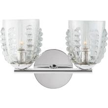 AERIN Gisela 2 Light 14 inch Polished Nickel Double Sconce Wall Light