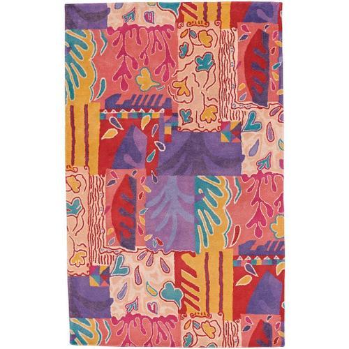 Bloomsbury Pink Multi - Rectangle - 7' x 9'