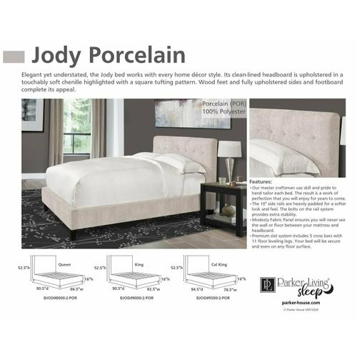 JODY - PORCELAIN Queen Footboard and Rails 5/0 (Natural)