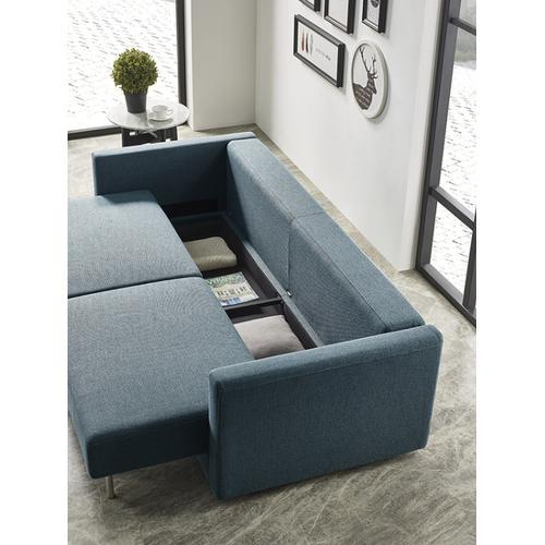 VIG Furniture - Divani Casa Fredonia Modern Blue-Green Fabric Sofa Bed w/ Storage