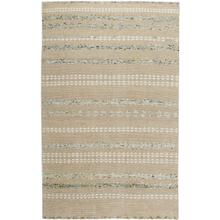 Viking Stripe Bone Ash Hand Knotted Rugs