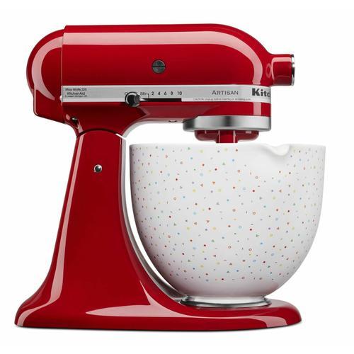KitchenAid - 5 Quart Confetti Sprinkle Ceramic Bowl