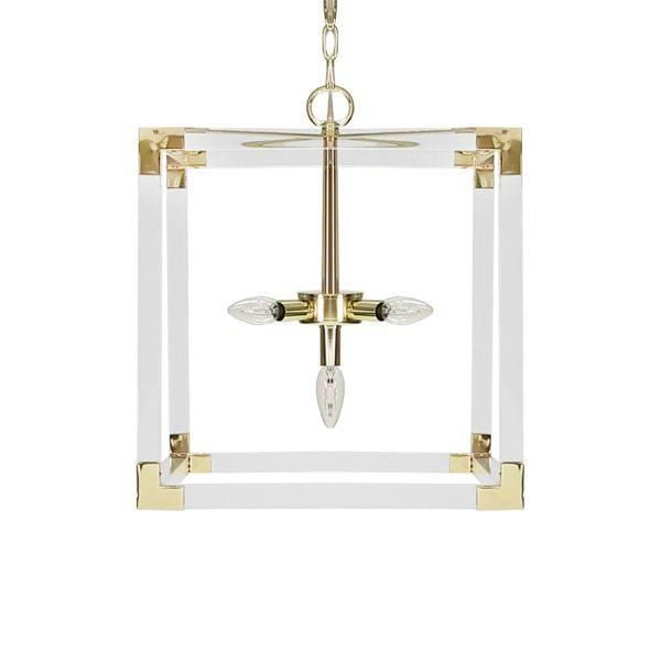 Brighten Up Any Space With Our Extraordinary Eli Pendant Fixture. A Sophisticated Cadence of Alternating Acrylic Armaments and Polished Brass Hardware Come Together To Create A Dazzling Display. Includes 6' of Coordinating Chain and Canopy for Your Custom Installation.