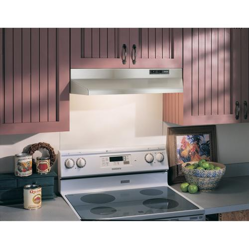 Broan® 30-Inch Under-Cabinet Range Hood, Stainless Steel