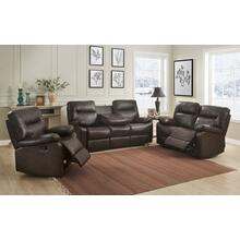 Kenzie Brown Reclining Loveseat