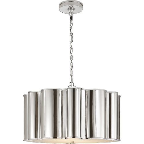 Alexa Hampton Markos 4 Light 26 inch Polished Nickel Pendant Ceiling Light