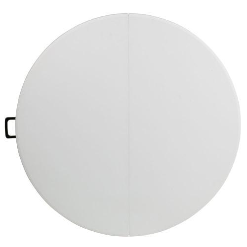 48'' Round Bi-Fold Granite White Plastic Folding Table