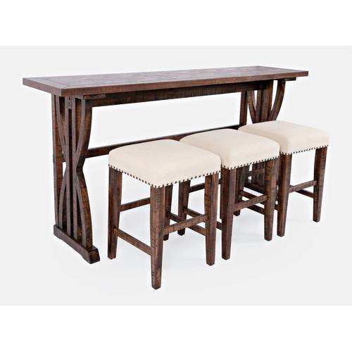 Fairview Oak Sofa Counter Dining 4pc Set