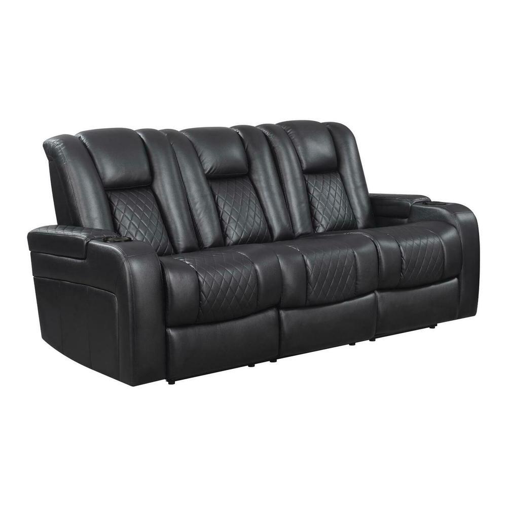 Product Image - Delangelo Black Power Motion Reclining Sofa