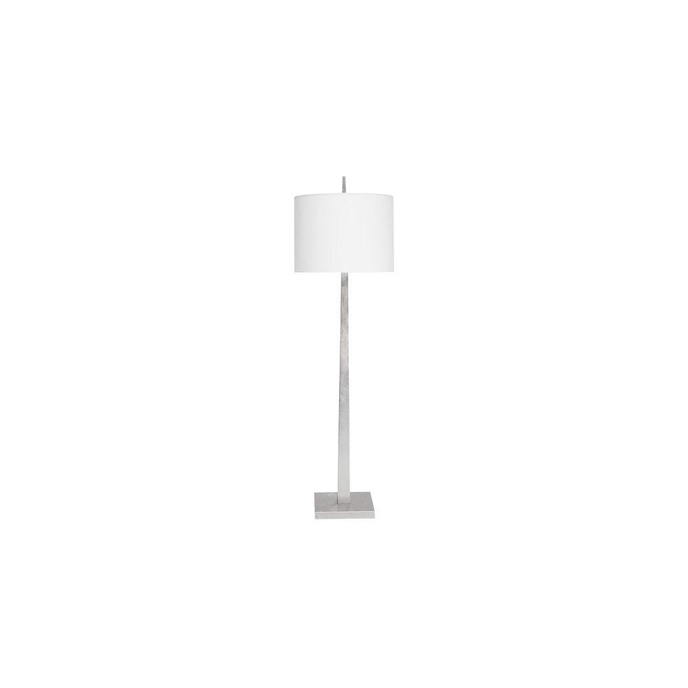 Sleek and Lustrous, Our Doyle Floor Lamp Offers A Streamlined, Tapered Silhouette That Brightens Any Room. Topped With A Crisp White Linen Shade and Hand Finished In Gleaming Silver Leaf.