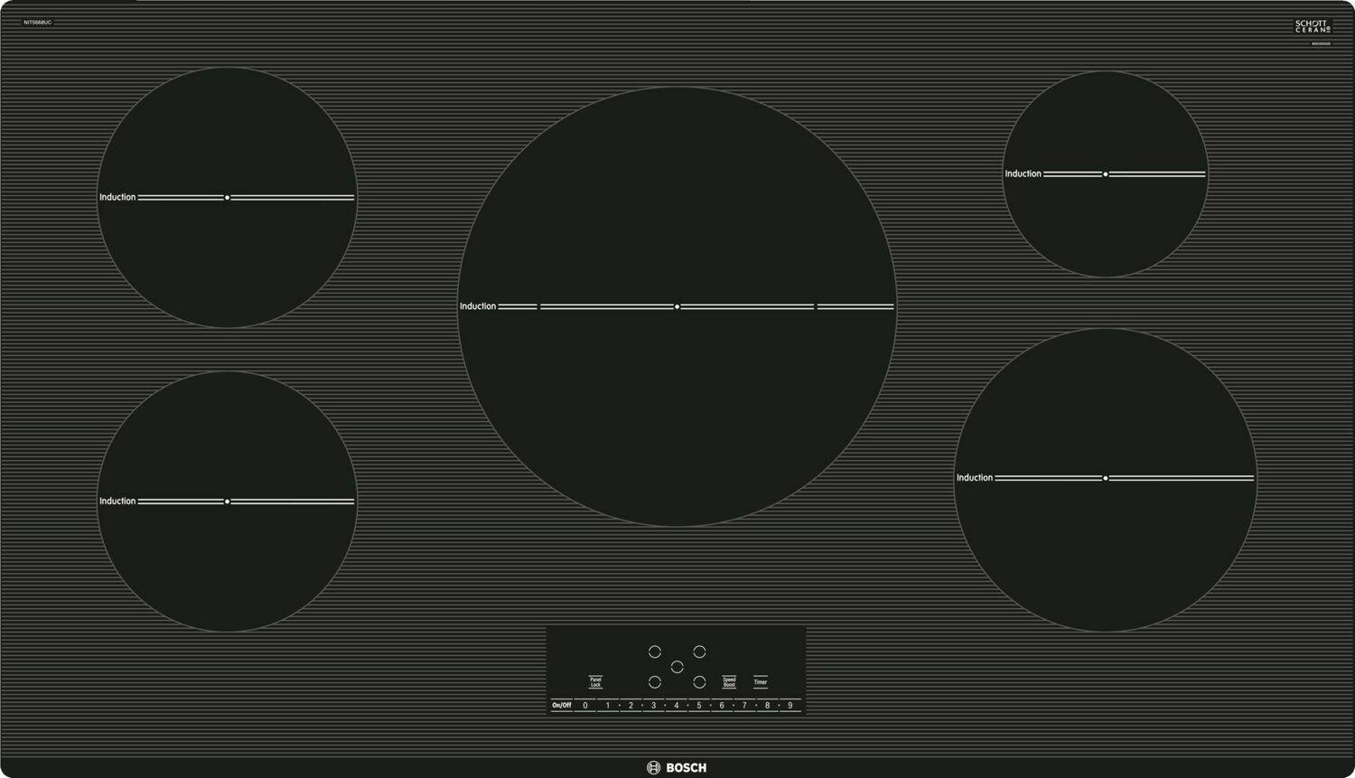 """Bosch500 Series 36"""" Induction Cooktop"""