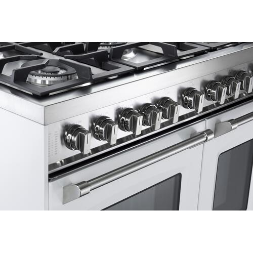 "White 36"" Gas Double Oven Range - Prestige Series"