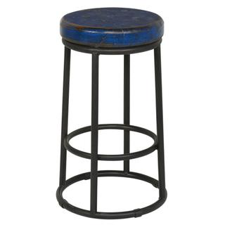 "Jaden 24"" Counter Stool Dark Blue"