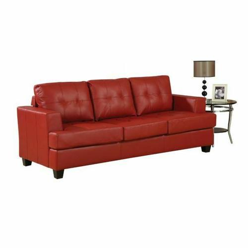 ACME Platinum Sofa w/Queen Sleeper - 15063 - Red Bonded Leather