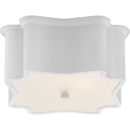 AERIN Bolsena 2 Light 12 inch Plaster White Flush Mount Ceiling Light