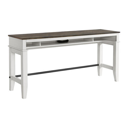 Intercon Furniture - Kona Sofa Bar Table  Gray and White