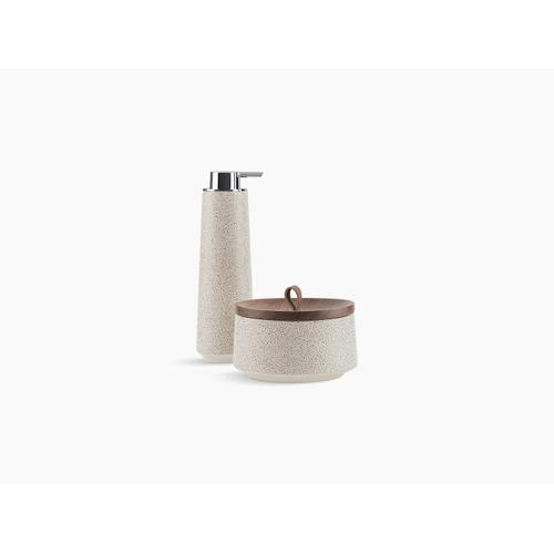 Shagreen Oyster Pearl Two-piece Accessory Set, Oyster Pearl