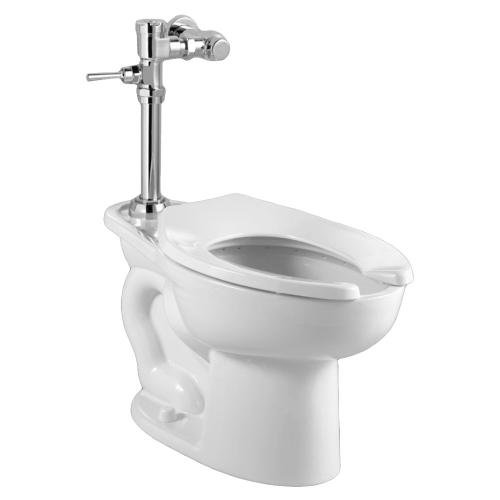 Madera 1.6 gpf EverClean Toilet with Exposed Manual Flush Valve System - White
