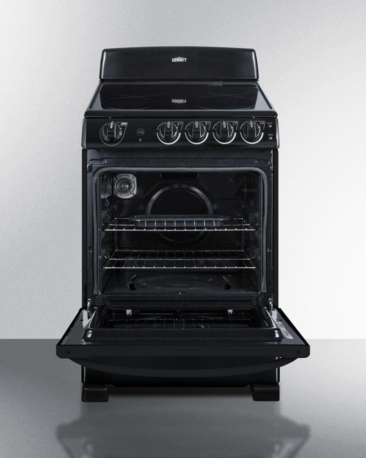 "24"" Wide Smooth-top Electric Range In Black, With Lower Storage Drawer and Oven Window; Available Winter 2018 To Replace Model Rex243b Photo #3"