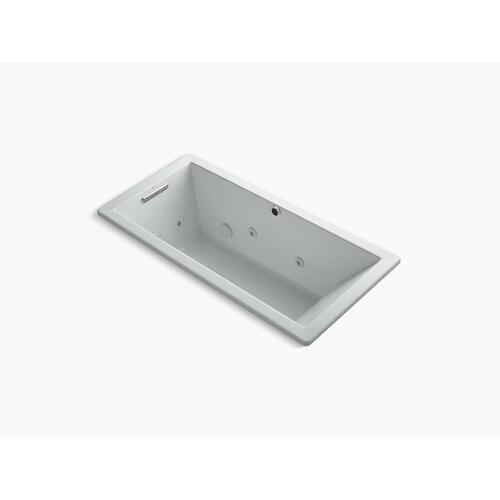 "Ice Grey 66"" X 32"" Heated Whirlpool Bath With Reversible Drain"