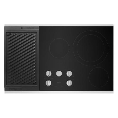 Maytag - 36-Inch Electric Cooktop with Reversible Grill and Griddle