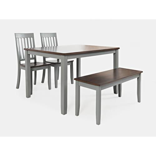 Decatur Lane Table & 2 Chairs & Bench Autumn Brown/grey