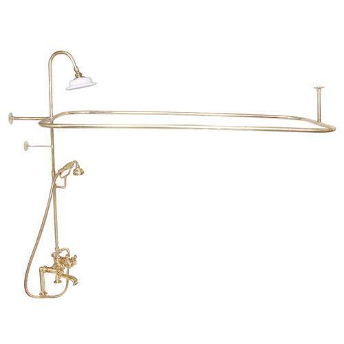 Code Rectangular Shower Unit - Cross / Polished Brass