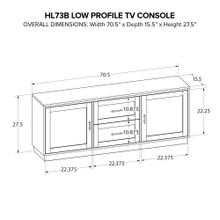 HL73B Custom Wide TV Console
