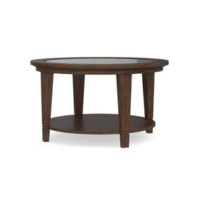 Lewiston Glass Top Round Cocktail Table