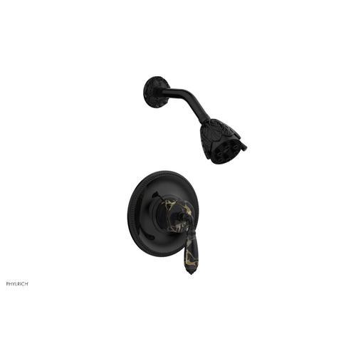 VALENCIA Pressure Balance Shower Set PB3338C - Gloss Black