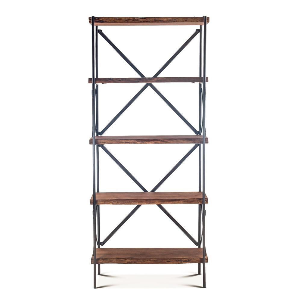 """See Details - Organic Forge Tall Bookshelf 34"""" Raw Walnut"""