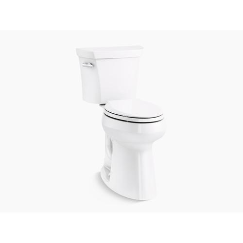 Kohler - White Two-piece Elongated 1.28 Gpf Tall Height Toilet